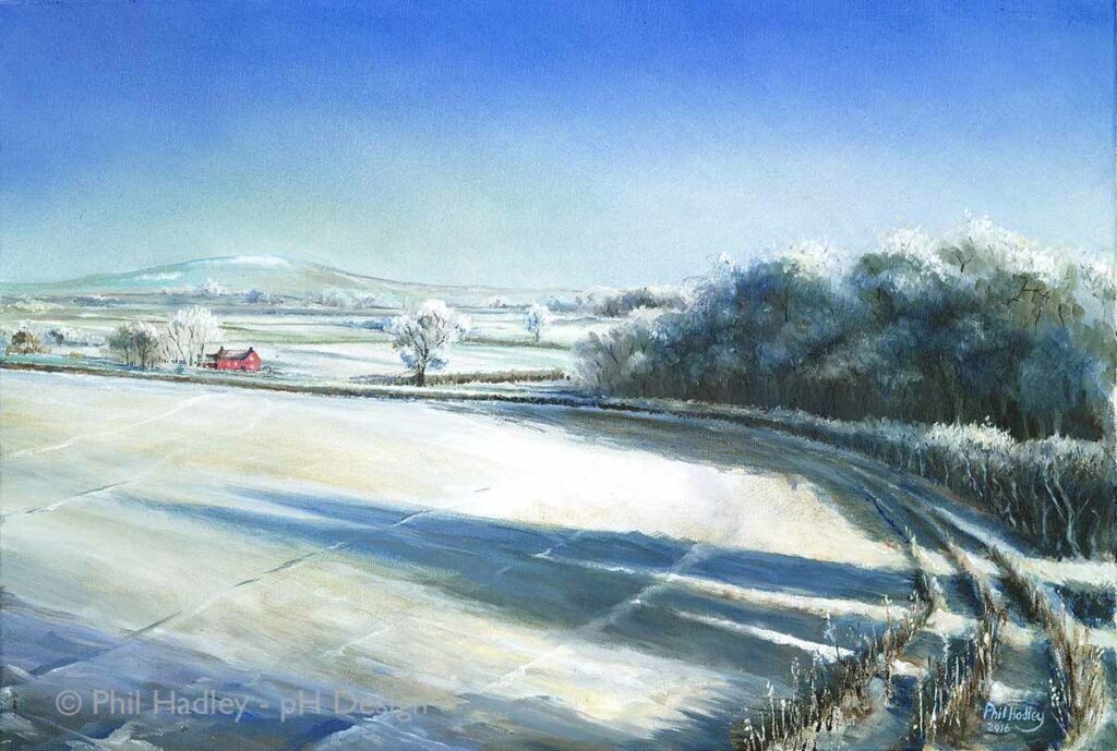From Hanwood towards the Wrekin