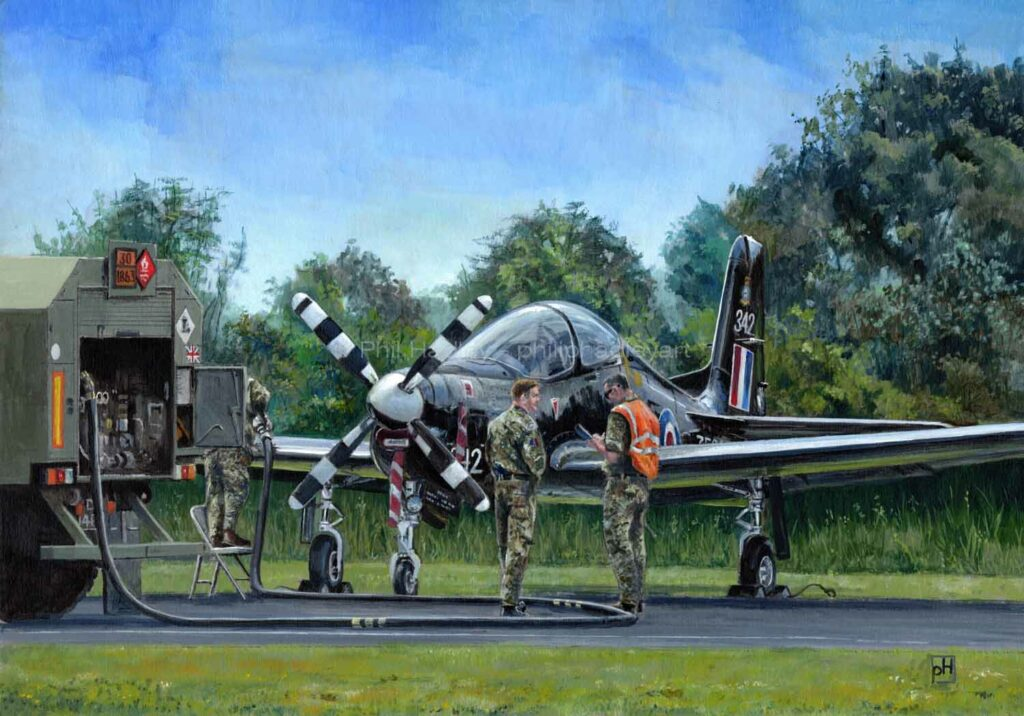 Topping up the Tucano